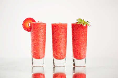 frash: Strawberry cocktail  on the light background Stock Photo