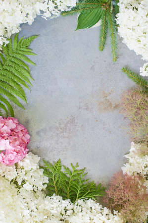 subtlety: Delicate floral composition as the frame