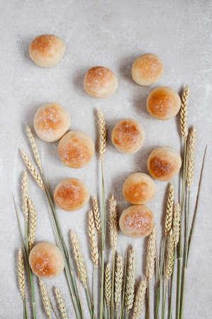 frash: Frash buns and wheat ears on the table