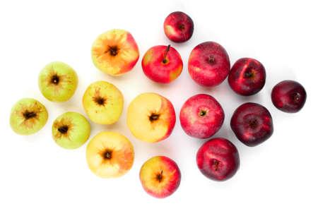 Various ripe apples on white Reklamní fotografie