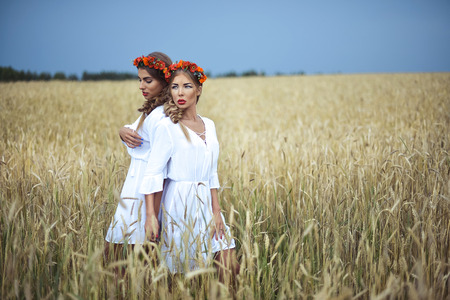two girls: two girls Stock Photo
