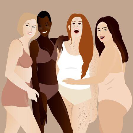 The group of happy attractive confident women Archivio Fotografico - 133339417