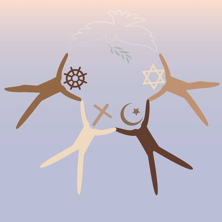 Friendship and peace for different religion creeds