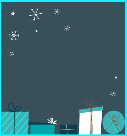 Happy New Year Advertising Banner.Christmas Shopping, Festive Purchases.Place for Text, Invitation for Party or Sales Shopping.Festive Holiday Poster, Card, Website.Advertising.Vector illustration