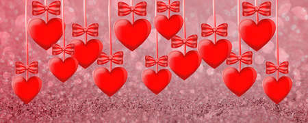Valentine's Day. Background with heart template. Wallpapers, flyers, invitations, posters, brochures, banners. Falling in love