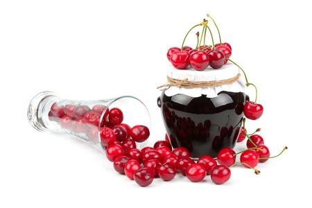 delicious marmelade  jam and cherry fruit juicy