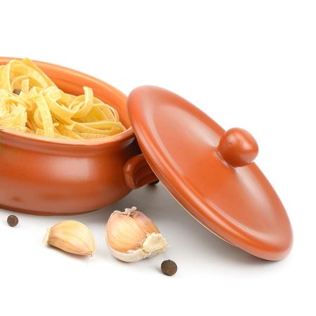 stoneware: ceramic pot for cooking Stock Photo