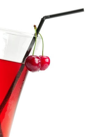 bacca:  weak alcoholic drink made from sweet cherries Stock Photo