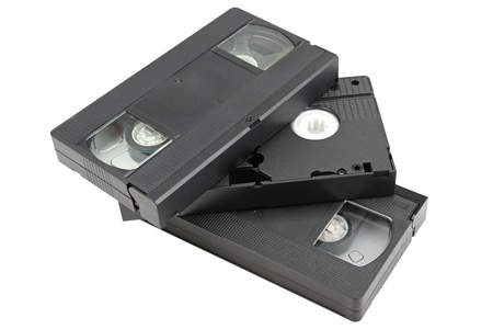 magnetic tape in a video tape photo