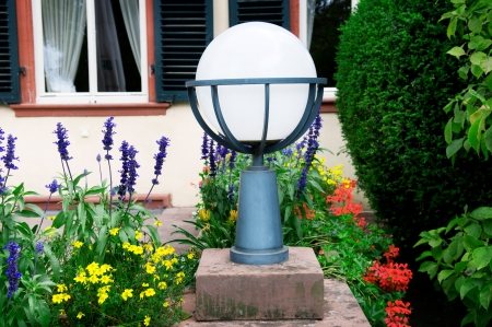 flashlight to illuminate the streets and flower garden
