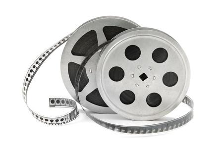 rollo pelicula: rollos de película aislados en fondo blanco Foto de archivo