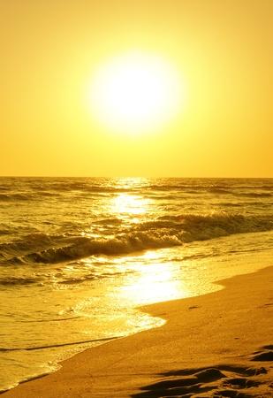 lovely sunrise over the sea Stock Photo