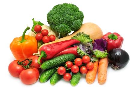 složení: zeleniny na bílém pozadí