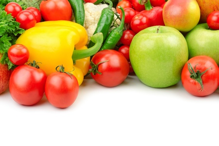 fruits and vegetables isolated on a white background Stock Photo - 15085663