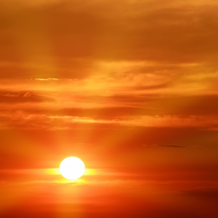 prachtige zonsondergang Stockfoto