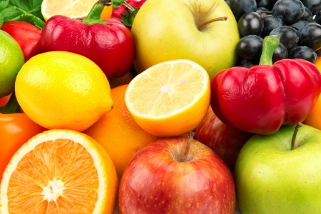 set of fruits and vegetables Stock Photo - 15747770