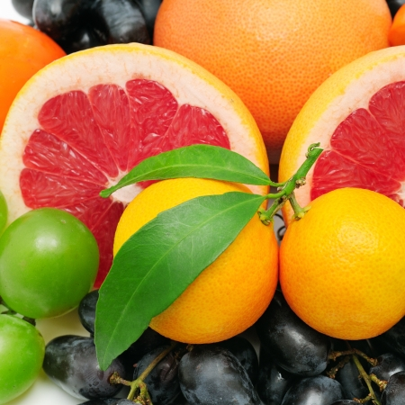 tangerine: collection fruit background
