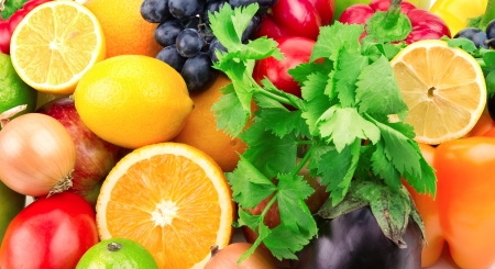 fresh fruits and vegetables Stock Photo - 16911825
