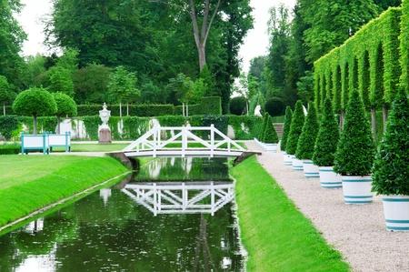 delightful garden and pond photo