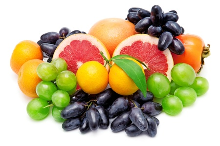Set of fruits isolated on white background Stock Photo - 18519618