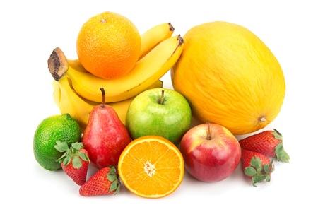 set of fruits isolated on white background Stock Photo - 19024074