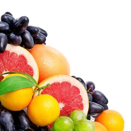 Set of fruits isolated on white background Stock Photo - 19829106