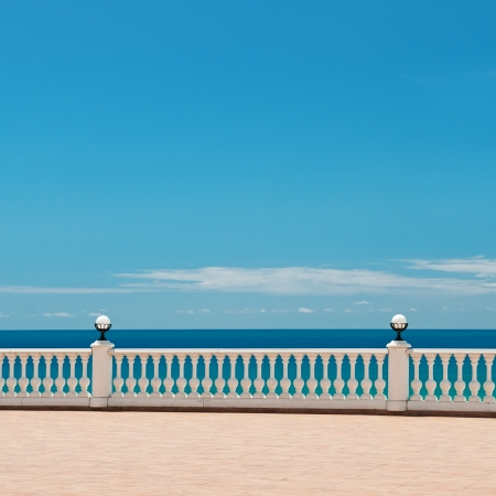 seafront: beautiful waterfront and the blue sky and blue sea