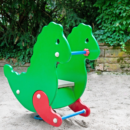 childs swing at the playground photo