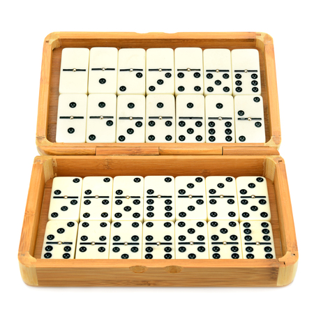 domino in box isolated on white background Stock Photo - 25473673