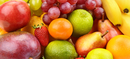 熟した果実の明るい背景 写真素材