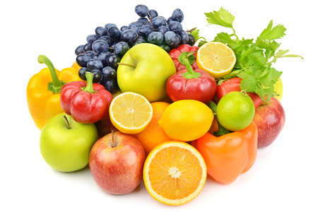 useful set of fruits and vegetables