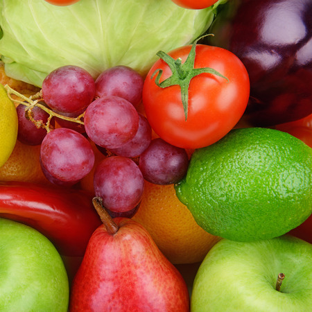 vine pear: bright background  of vegetables and fruits Stock Photo