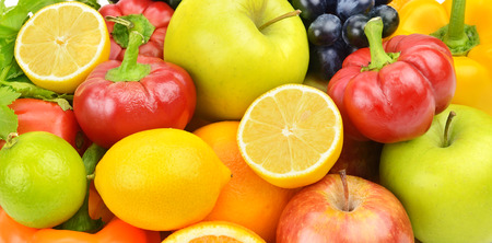 beautiful background of fruits and vegetables photo