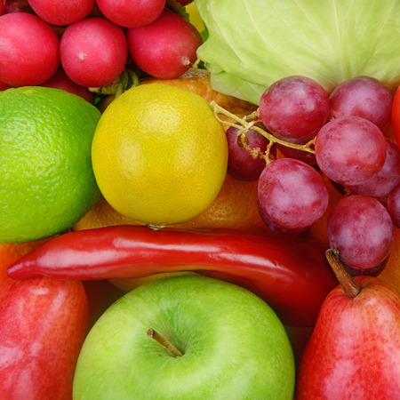 vine pear: background  of vegetables and fruits