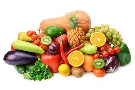 과일과 야채 흰색 배경에 고립 스톡 콘텐츠 - 30030678