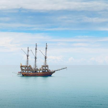 sailing boat in the sea photo