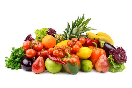 groenten en fruit geïsoleerd op een witte achtergrond