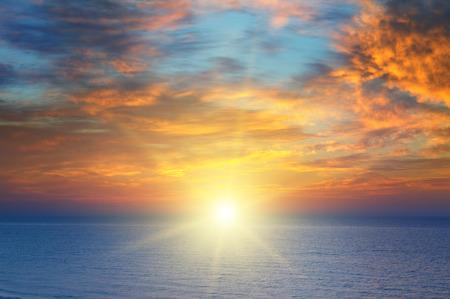 briny: sunrise over the sea Stock Photo