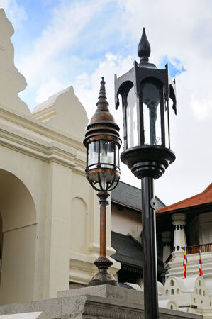 street lamp in a Buddhist temple photo