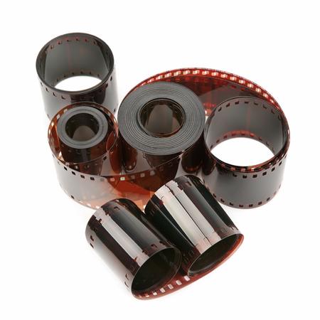 photographic film isolated on white background photo