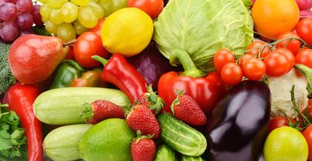 果物や野菜の明るい背景