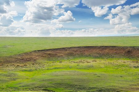 soil erosion: landslide and soil erosion on agricultural fields