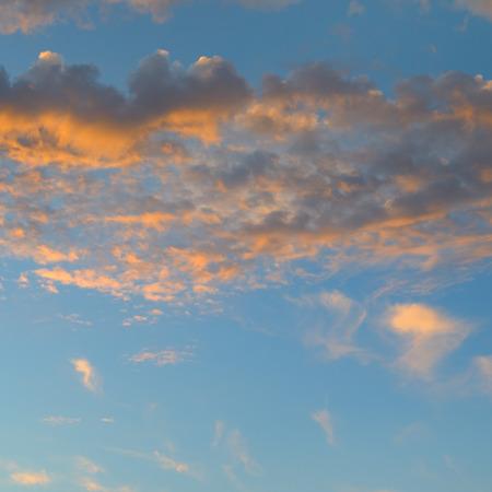 uprise: beautiful sunrise and cumulus clouds