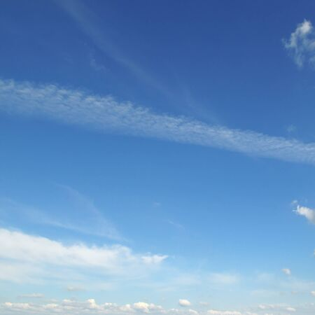 sky blue: light clouds in the blue sky