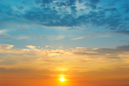 cloudscapes: beautiful sunrise and cloudy sky Stock Photo