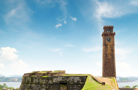 galle: clock on the tower (Galle, Sri Lanka)