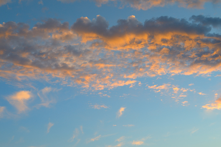 cumulus: beautiful sunrise and cumulus clouds