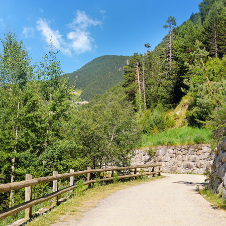 walking trail: Tourist walking trail in the mountains