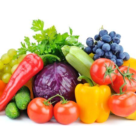 naranja fruta: frutas y verduras aislados sobre fondo blanco