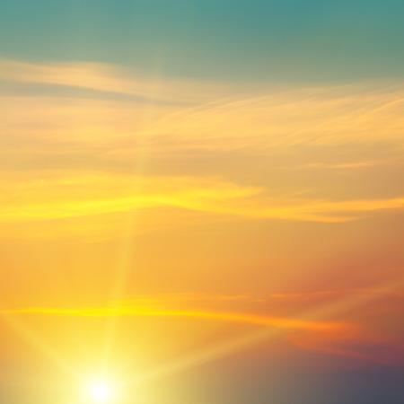 美しい日の出と曇り空 写真素材